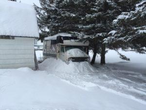 snow-bank